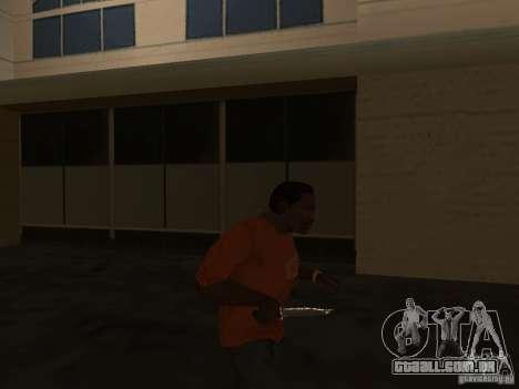 Knife Chrome para GTA San Andreas terceira tela