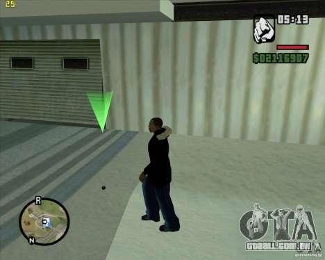 Jogue uma bola de neve para GTA San Andreas segunda tela
