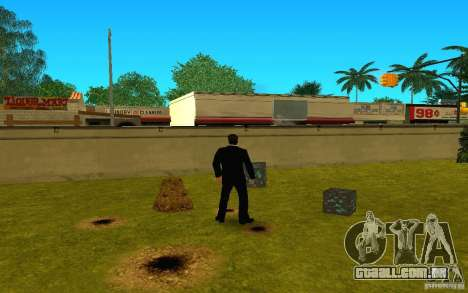 Minério de diamante do jogo Minecraft para GTA San Andreas por diante tela