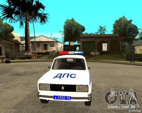 DPS de 2105 Vaz para GTA San Andreas vista traseira