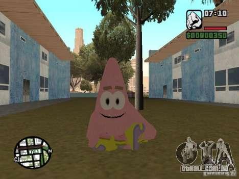Patrick para GTA San Andreas sexta tela