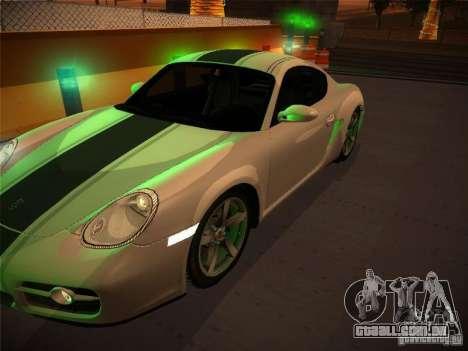 Porsche Cayman S Snow para GTA San Andreas vista direita
