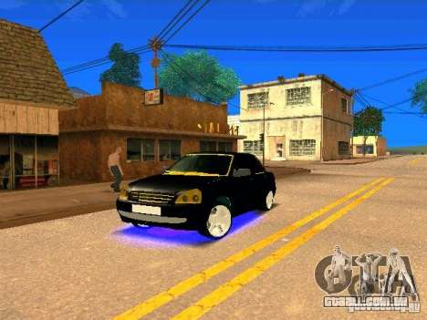 LADA 2170 Priora Gold Edition para vista lateral GTA San Andreas