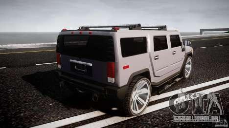 Hummer H2 para GTA 4 vista superior