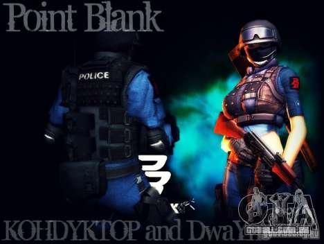 SWAT de Point Blank para GTA San Andreas segunda tela