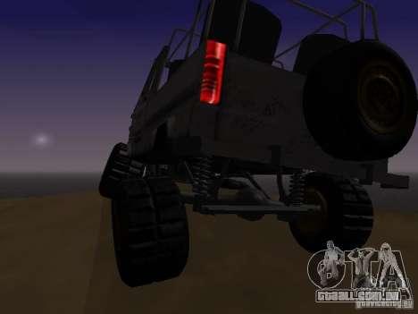 LuAZ 969 Offroad para GTA San Andreas vista interior