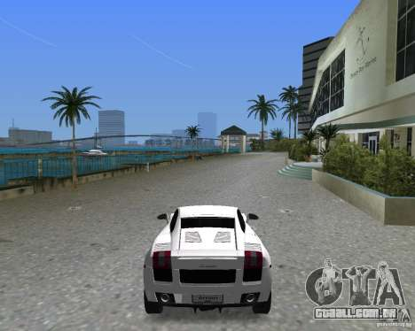 Lamborghini Gallardo para GTA Vice City deixou vista