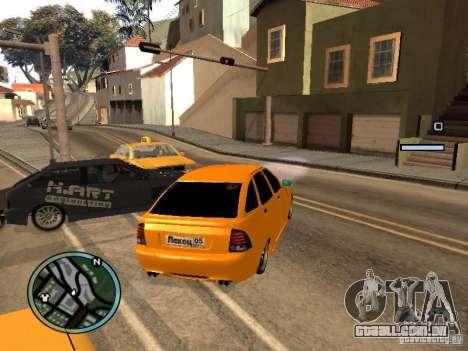 Lada Priora DagStailing para GTA San Andreas vista direita