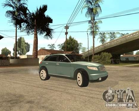 INFINITY FX45 para GTA San Andreas vista superior