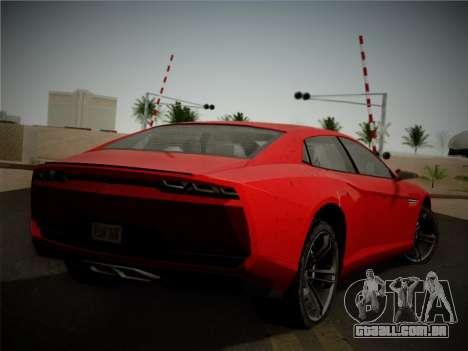 Lamborghini Estoque Concept 2008 para GTA San Andreas vista traseira