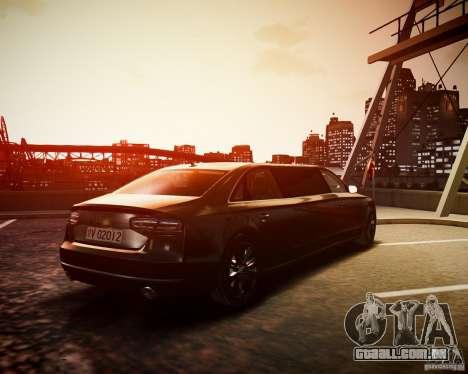 Audi A8 Limo para GTA 4 esquerda vista