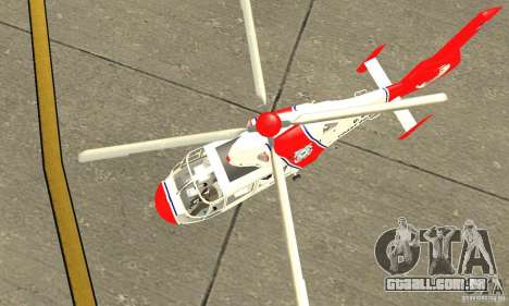 AS-365N da Guarda Costeira dos Estados Unidos para GTA San Andreas vista interior