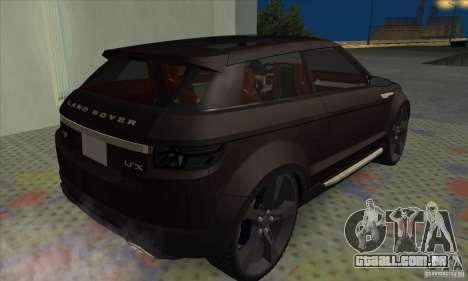 Land Rover LRX para GTA San Andreas traseira esquerda vista