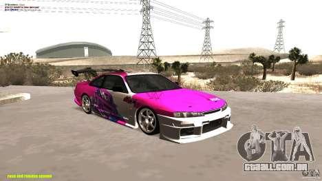 Nissan Silvia S14 kuoki RDS para GTA San Andreas vista interior