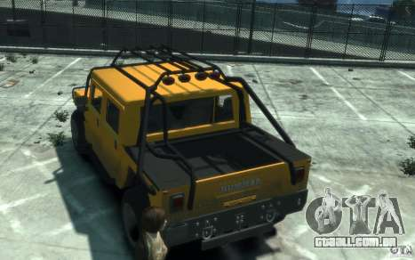 Hummer H1 4x4 Extras para GTA 4 vista direita