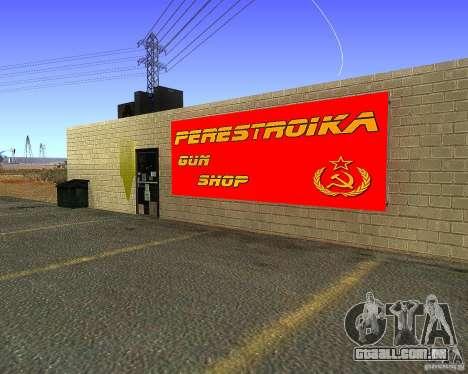 Armazena a reestruturação para GTA San Andreas segunda tela