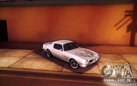 Pontiac Firebird 1970 para GTA San Andreas vista superior