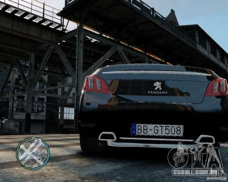 Pegeout 508 v2.0 para GTA 4 traseira esquerda vista