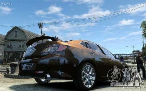 Mazda 6 2008 para GTA 4 vista de volta