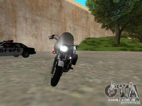 Harley Davidson Dyna Defender para GTA San Andreas traseira esquerda vista