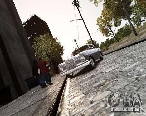 Mercedes-Benz W111 para GTA 4 vista de volta