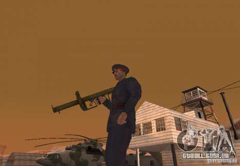 Panzerschreck para GTA San Andreas segunda tela