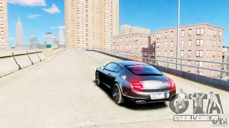 Bentley Continental SuperSports v2.5 para GTA 4 traseira esquerda vista