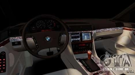 BMW 750iL E38 Light Tuning para GTA 4 vista de volta