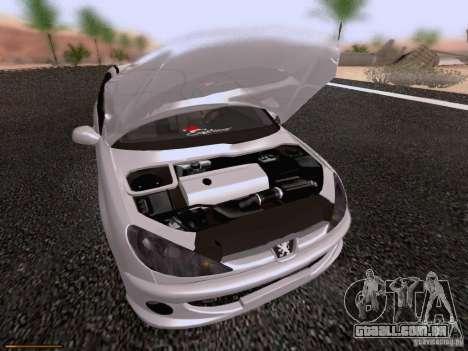 Peugeot 206 para GTA San Andreas vista superior