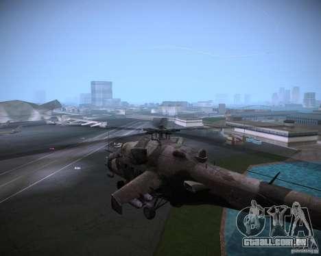 Mi-35 para GTA Vice City vista traseira esquerda