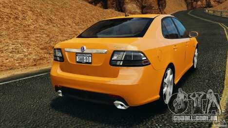 Saab 9-3 Turbo X 2008 para GTA 4 traseira esquerda vista
