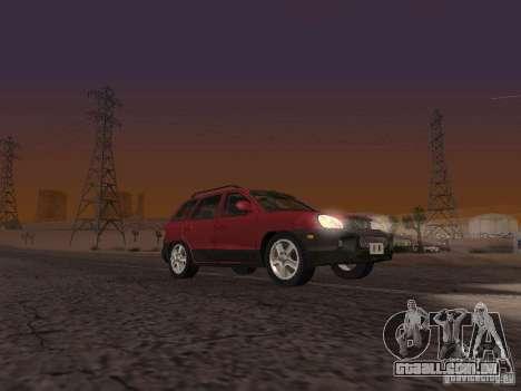 Hyundai Santa Fe Classic para GTA San Andreas traseira esquerda vista