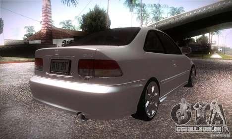 Honda Civic Si para GTA San Andreas vista direita