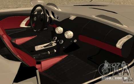 Mercedes-Benz SLR McLaren Stirling Moss para GTA San Andreas vista traseira