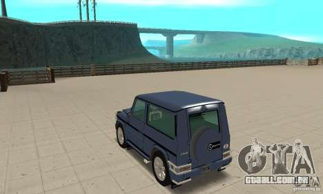 Mercedes-Benz G500 1999 Short [with kangoo v1] para GTA San Andreas traseira esquerda vista
