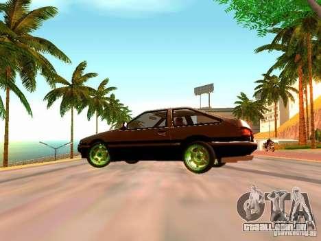 Toyota Corolla Carib AE86 para GTA San Andreas traseira esquerda vista