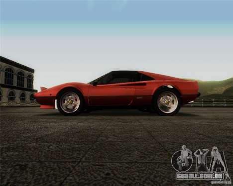 Ferrari 308 GTS Quattrovalvole para GTA San Andreas vista interior