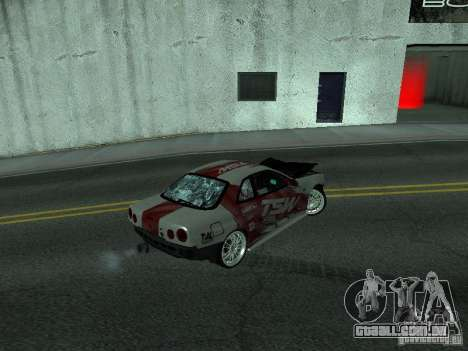 Nissan Skyline R 34 para vista lateral GTA San Andreas
