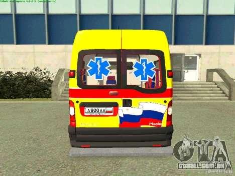 Renault Master rápido Samara para GTA San Andreas traseira esquerda vista