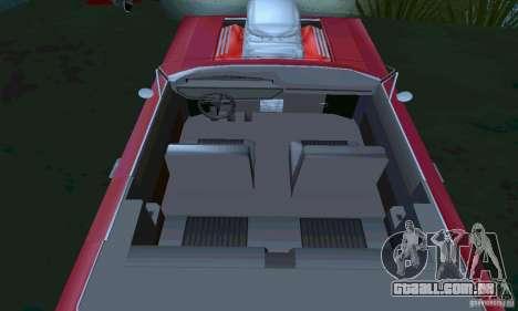 Chevrolet Impala 1963 Lowrider Charged para GTA San Andreas vista direita