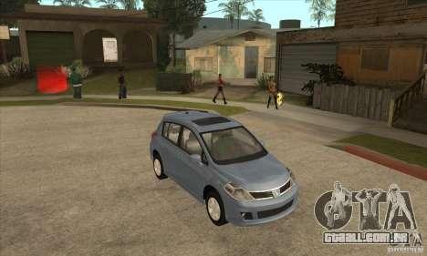 Nissan Tiida para GTA San Andreas vista traseira