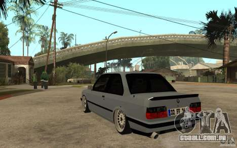 BMW E30 CebeL Tuning para GTA San Andreas traseira esquerda vista