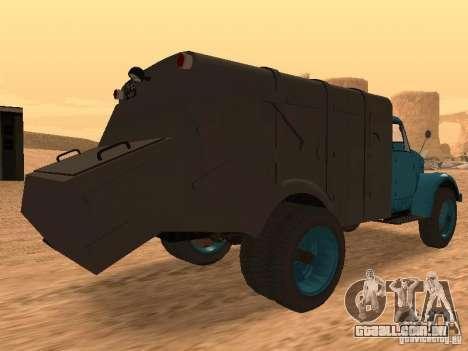 Caminhão de lixo de GAZ-51 para GTA San Andreas vista direita