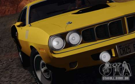 Plymouth Hemi Cuda 426 1971 para GTA San Andreas vista inferior