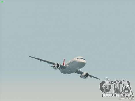 Airbus A319-112 Swiss International Air Lines para GTA San Andreas vista traseira