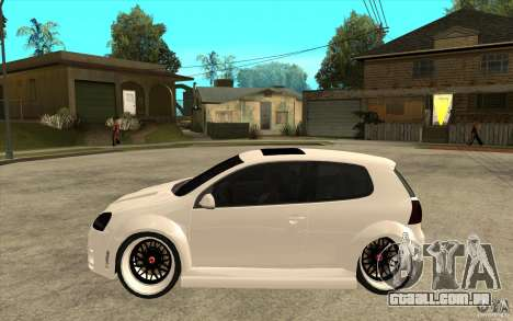 VW Golf 5 GTI Tuning para GTA San Andreas esquerda vista