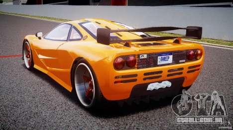 Mc Laren F1 LM v1.0 para GTA 4 traseira esquerda vista