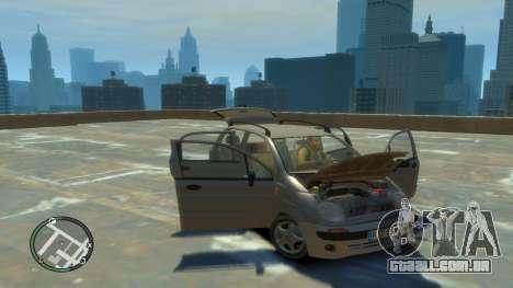 Daewoo Matiz Style 2000 para GTA 4 vista de volta