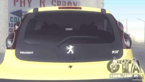 Peugeot 107 2011 para GTA San Andreas vista direita