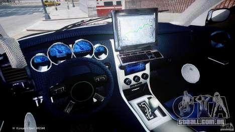 Dodge Charger NYPD Police v1.3 para GTA 4 vista de volta
